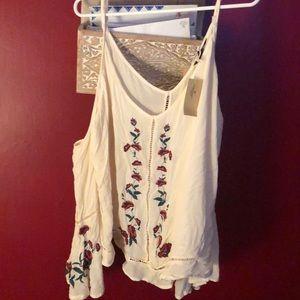Cold shoulder long sleeved blouse